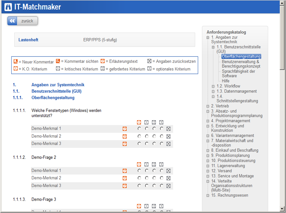 Specification Templates Trovarit The ITMatchmaker - Erp requirements template